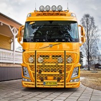 A16-2,Highway,G16-6,Top-Bar,Sideliner,Volvo FH4-Glob-XL,presentation,Guldager,lackerad,lacquered,yellow,gul