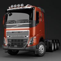 G16-7,Trux Top-Bar,Volvo FH Low,red,röd,3D