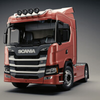 Trux Top-Bar,G24-9,Scania G Normal,red,röd,lackerad,lacquered