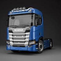 Trux Top-Bar,G24-9,Scania R Normal,blå,blue,lackerad,lacquered