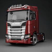 Trux Top-Bar,G24-9,Scania S Normal,red,röd,lackerad,lacquered
