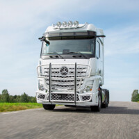 Trux Highway,A47-1,Trux Top-Bar,G47-2,Mercedes Actros,white,vit,lackerad,lacquered