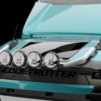 G16-4,Trux U-Bar,Volvo FM 2021,Glob,blå,blue,3D